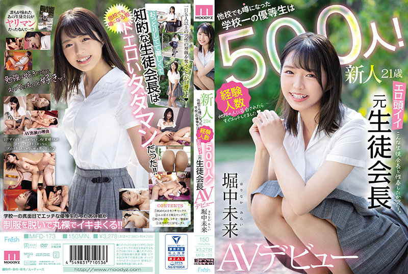 MIFD-173 Rookie 21 Years Old The Number Of The Best Honor Student In The School, Which Has Been Rumored At Other Schools, Is 500! Erotic Head Good Former Student Council President AV Debut Mirai Horinaka